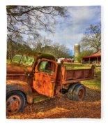 The Resting Place 2 Farm Life 1947 Dodge Dump Truck Art Fleece Blanket