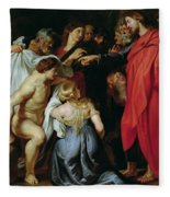 The Resurrection Of Lazarus Fleece Blanket