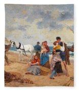 The Return Of Fishermen Fleece Blanket