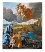 The Return Of The Holy Family From Egypt Fleece Blanket