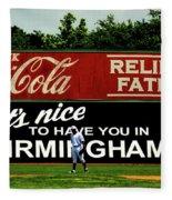 The Rickwood Classic - Birmingham Alabama Fleece Blanket