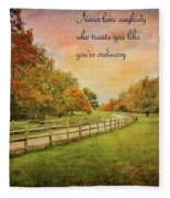 The Right Words To Live By Fleece Blanket