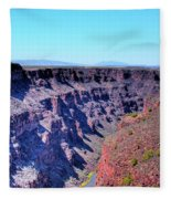 The Rio Grande Gorge Fleece Blanket
