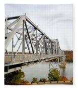 The Rip Van Winkle Bridge 4 Fleece Blanket