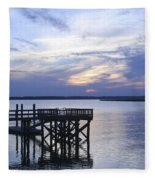 The River At Dusk Fleece Blanket