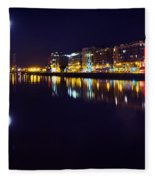 The River Liffey Night Romance V2 Fleece Blanket
