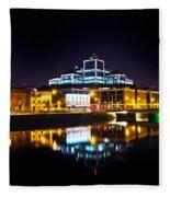 The River Liffey Reflections 2 Fleece Blanket