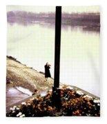 The River Seine 1955 Fleece Blanket