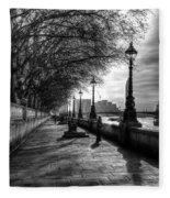 The River Thames Path Fleece Blanket