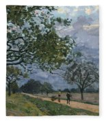 The Road From Versailles To Louveciennes Fleece Blanket