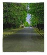The Road On A Border Of Royal Park Fleece Blanket