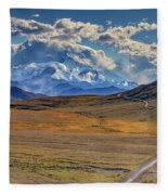The Road To Denali Fleece Blanket