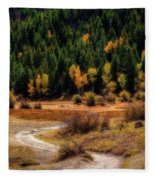 The Road To Fall Fleece Blanket