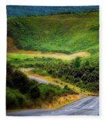 The Road To Milford Sound Fleece Blanket