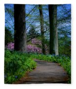 The Road To Peace And Quiet Fleece Blanket