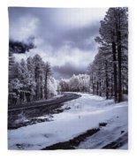 The Road To Snow Fleece Blanket