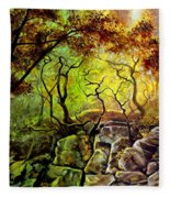 The Rocks In Starachowice Fleece Blanket