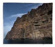 The Rocks Of Los Gigantes 1 Fleece Blanket