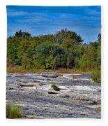 The Rocky Limestone Trail  Fleece Blanket