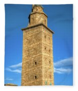 The Roman Lighthouse Known As Tower Of Hercules Fleece Blanket