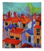 The Rooftops Fleece Blanket