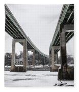 The Roosevelt Expressway Bridges Fleece Blanket