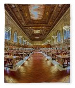 The Rose Main Reading Room Nypl Fleece Blanket