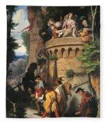 The Rose Or The Artist's Journey Fleece Blanket