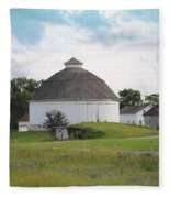 The Round Barn Fleece Blanket