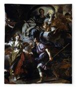 The Royal Hunt Of Dido And Aeneas Fleece Blanket