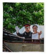 The Royal Wedding Harry Meghan Fleece Blanket