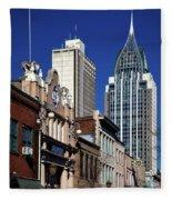 The Rsa Tower - Mobile Alabama Fleece Blanket