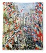 The Rue Montorgueil Fleece Blanket