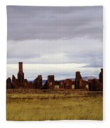 The Ruins Of Fort Union Fleece Blanket