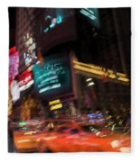 The Running Of The Taxis Fleece Blanket