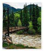 The Rushing Animas River - Colorado Fleece Blanket