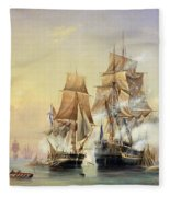 The Russian Cutter Mercury Captures The Swedish Frigate Venus On 21st May 1789 Fleece Blanket