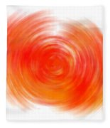 The Sacral Chakra - Orange Fleece Blanket