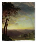 The Sacramento River Valley  Fleece Blanket