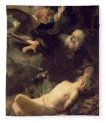 The Sacrifice Of Abraham Fleece Blanket