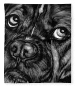 The Sad Boxer Fleece Blanket
