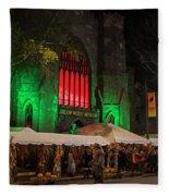 The Salem Witch Museum Halloween Weekend Salem Ma Fleece Blanket