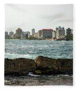 The San Juan Puerto Rico Cityscape Fleece Blanket