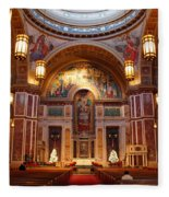 The Sanctuary Of Saint Matthew's Cathedral Fleece Blanket