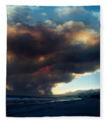 The Santa Barbara Fire Fleece Blanket