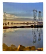 The Saugus River At Dawn Fleece Blanket