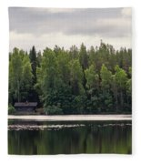 The Sauna Of Kintulammi Fleece Blanket