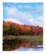 The Scarlet Reds Of Autumn Fleece Blanket