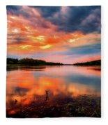 The Scenic Elbe Fleece Blanket