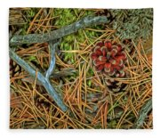 The Scent Of Pine Forest II Fleece Blanket